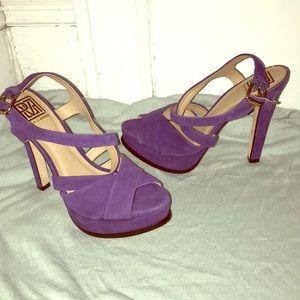 Purple Suede Stilettos 🦄